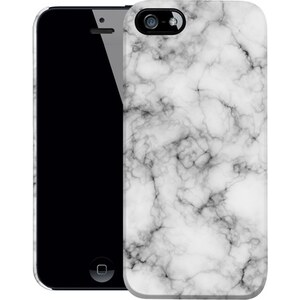 caseable Coque iPhone 5 / 5S / SE Imprimée - Marbre Blanc