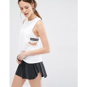 Nike Premium - Débardeur à emmanchures larges avec élastique - Blanc