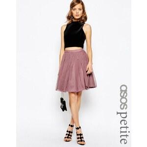 ASOS PETITE - Mini-jupe en tulle avec superpositions - Rose
