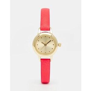 ASOS - Mini-Uhr mit schmalem Armband - Rosa