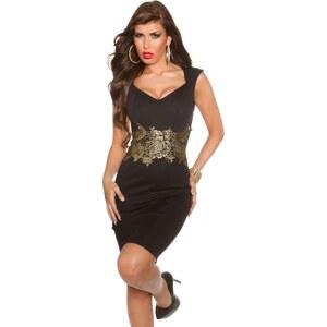 88ec9ac623 Csinos alkalmi ruha horgolt csipke rátéttel - Fekete (40) - Glami.hu