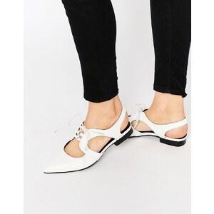 ASOS - MINNESOTA - Chaussures plates à lacets - Blanc