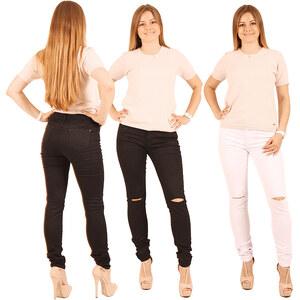 Lesara Jeans skinny avec découpes aux genoux