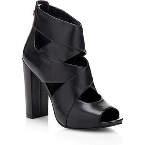 Guess Abbey - Sandales à talon en cuir - noir