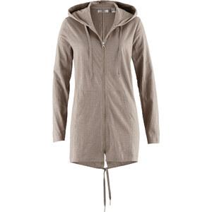 bpc bonprix collection Veste parka matière T-shirt marron manches longues femme - bonprix