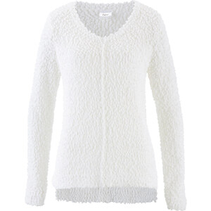 bpc bonprix collection Pull duveteux blanc manches longues femme - bonprix