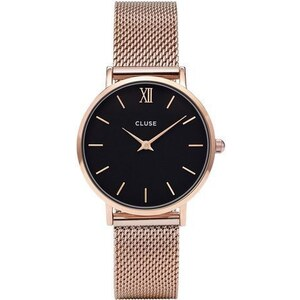 Montre Cluse Minuit - Mesh Rose Gold/Black
