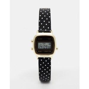 ASOS - Petite montre digitale avec bracelet à pois - Noir