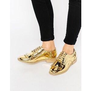 ASOS - MISSOURI - Chaussures richelieu à franges - Doré