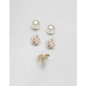 ASOS Occasion Stud & Ear Cuff Earring Pack - Gold