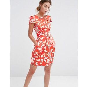 Closet London Closet - Robe manches courtes à fleurs - Rouge