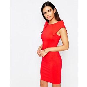 Vesper - Rogue - Robe courte avec épaules fantaisie - Rouge