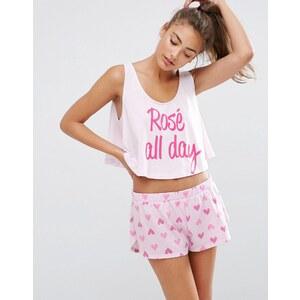 ASOS - Rosé All Day - Ensemble débardeur et short de pyjama - Multi