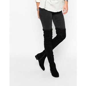 ASOS KEEPERS Flat Over The Knee Boots - Noir