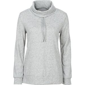 RAINBOW Sweatshirt à grand col gris femme - bonprix