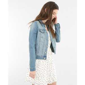 Veste en jean bleu, Femme, Taille 34 -PIMKIE- MODE FEMME
