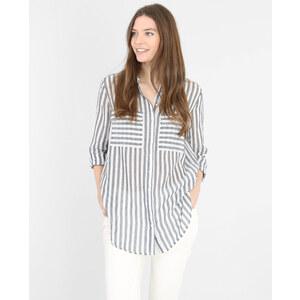 Chemise rayée blanc cassé, Femme, Taille L -PIMKIE- MODE FEMME