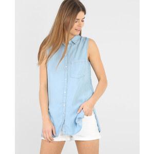 Chemise longue sans manche bleu, Femme, Taille S -PIMKIE- MODE FEMME