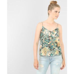 Débardeur fines bretelles imprimé Femme - Couleur vert - Taille XS -PIMKIE- LA MODE FEMME