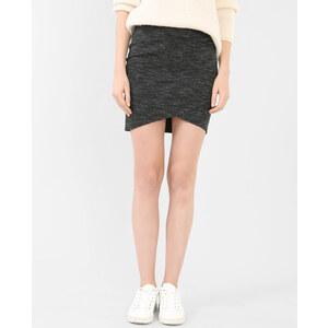 Mini jupe bodycon gris chiné, Femme, Taille L -PIMKIE- MODE FEMME