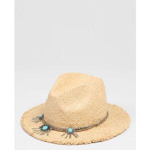 Chapeau fedora avec bijoux beige taupe, Femme, Taille S -PIMKIE- MODE FEMME