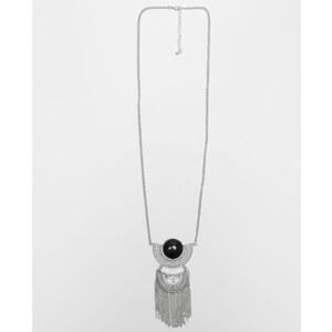 Sautoir ethnique gris argenté, Femme, Taille 00 -PIMKIE- MODE FEMME