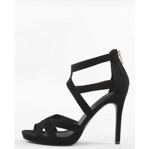 Sandales ajourées à talons noir, Femme, Taille 36 -PIMKIE- MODE FEMME