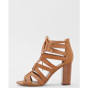 Sandales à talon marron, Femme, Taille 37 -PIMKIE- MODE FEMME