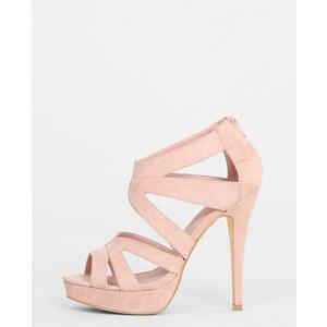 Sandales à talon multibrides rose poudré, Femme, Taille 36 -PIMKIE- MODE FEMME