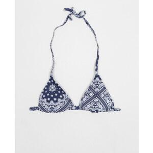 Haut de maillot de bain imprimé cachemire Femme - Couleur bleu marine - Taille 36 -PIMKIE- LA MODE FEMME