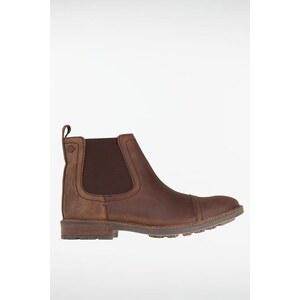 Boots homme cuir et empiècements Marron Textile - Homme Taille 44 - Bonobo