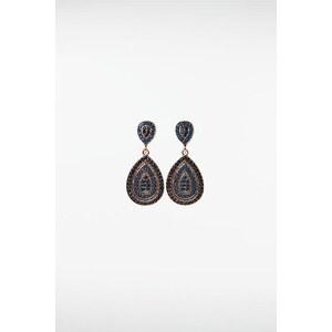 Boucles d'oreilles femme gouttes pierres Bleu Acrylique - Femme Taille TU - Bonobo