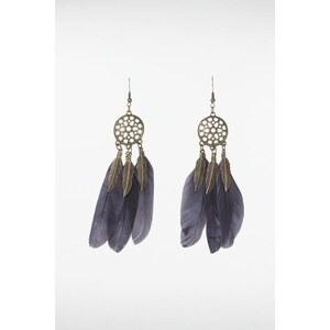 Boucles d'oreilles plumes Métal Plume d origine animale - Femme Taille TU - Bonobo