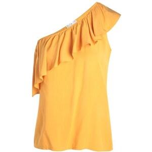 Blouse one shoulder Jaune Viscose - Femme Taille 1 - Cache Cache