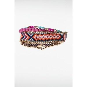 Bracelets femme tressage multicolore Métal Metal - Femme Taille TU - Bonobo