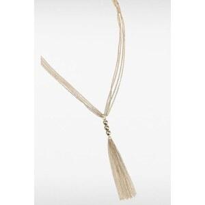Collier fines chaînettes dorées Métal Metal - Femme Taille TU - Bonobo
