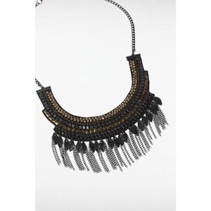 Collier femme plastron perles Noir Perle de verre - Femme Taille TU - Bonobo