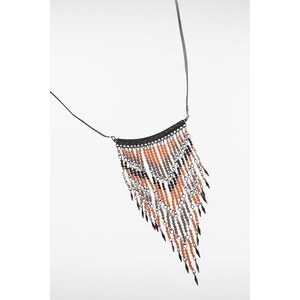 Collier plastron perles Rose Synthetique - Femme Taille TU - Bonobo