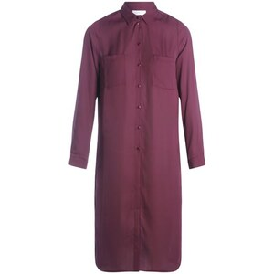 Chemise longue coloris uni Violet Polyester - Femme Taille 1 - Cache Cache