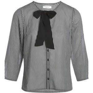 Chemisier rayé à col lavallière Noir Polyester - Femme Taille 3 - Cache Cache