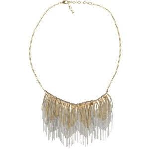 Collier franges chainettes métal Jaune Metal - Femme Taille T.U - Cache Cache