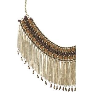 Collier multi-rangs chaines et perles Jaune Metal - Femme Taille T.U - Cache Cache