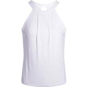 Débardeur maille côtelée plissé Blanc Viscose - Femme Taille 1 - Cache Cache