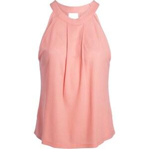 Débardeur maille côtelée plissé Rose Viscose - Femme Taille 2 - Cache Cache