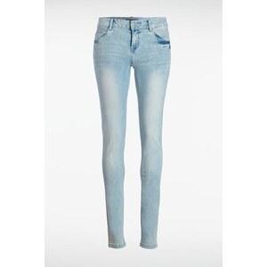 Jeans femme skinny SEBBA tie and dye Bleu Polyester - Femme Taille 38 - Bonobo