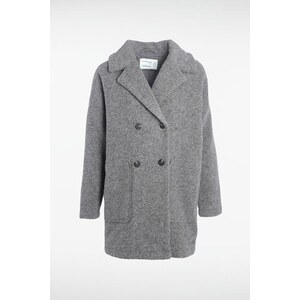 Manteau femme maille chinée Instinct Gris Coton - Femme Taille L - Bonobo