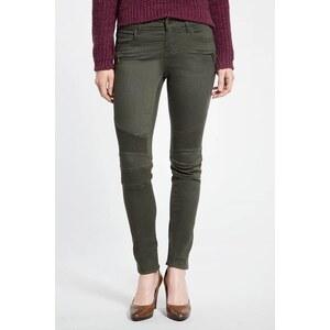 Pantalon femme slim esprit motard Vert Elasthanne - Femme Taille 34 - Bonobo