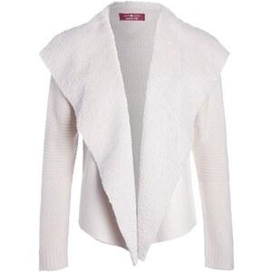 Gilet suédine et laine Beige Polyester - Femme Taille 0 - Cache Cache