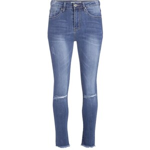 Jean skinny destroy Bleu Elasthanne - Femme Taille 40 - Cache Cache