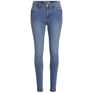 Jean skinny used Bleu Polyester - Femme Taille 34 - Cache Cache